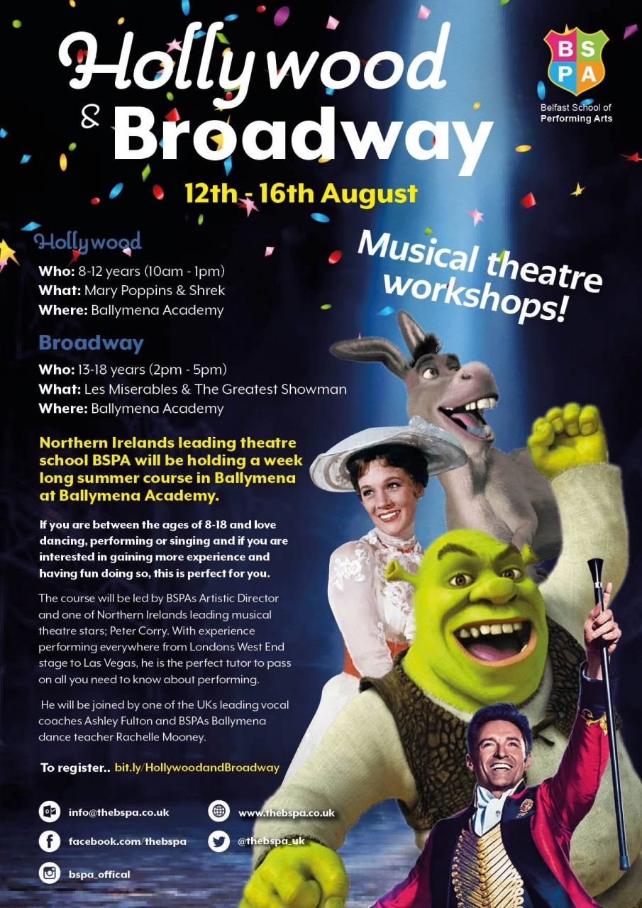 Hollywood & Broadway Bmena Workshops