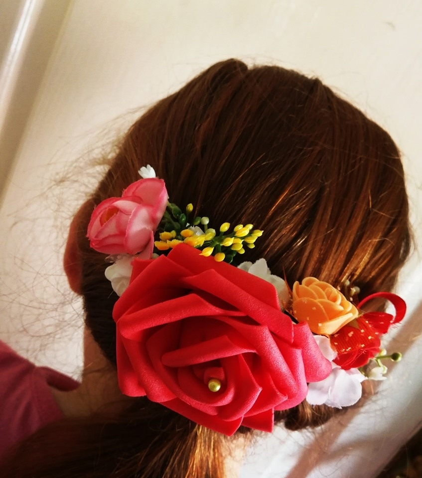 A selection of what I create. 2020-01-13 - Faux floral hairpieces