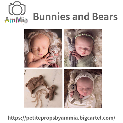 Take Over Tuesday 14th May 2019 - These are some of our bunny and bear makes. I love seeing images in use, taken by the very talented Morgan Bonel @morganbonelphotography x  Michelle Petite Props by Ammia  https://www.mumsni.com/business-directory/217-petite-props-by-ammia
