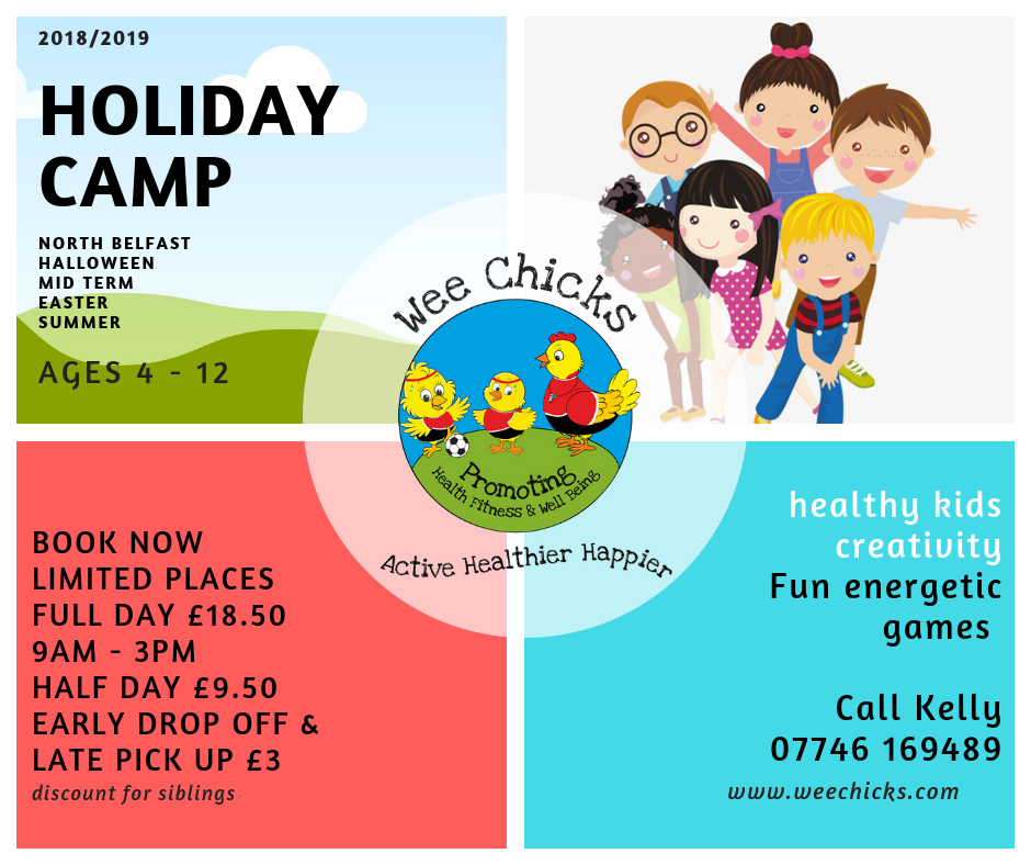 Wee Chicks holiday camp flyer 2018 2019