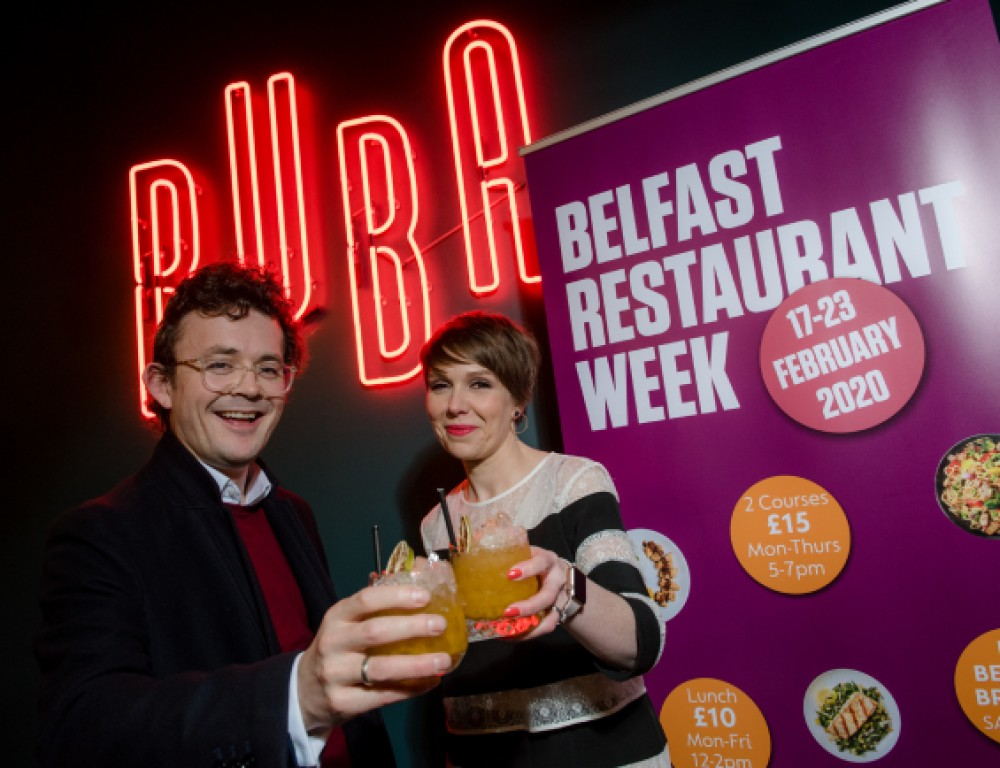 LOVE IS ON THE MENU IN BELFAST CITY CENTRE RESTAURANT WEEK